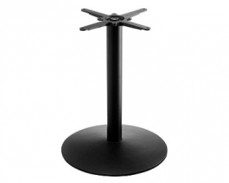Black Traditional Round Table Base