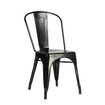 Black Tolix Industrial Chair