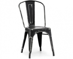 Black Silver Tolix Chair