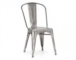 Clear gun metal tolix chair