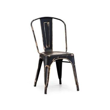 Black Gold Vintage Tolix Chair