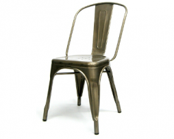 Pewter Finish Tolix Industrial Chair