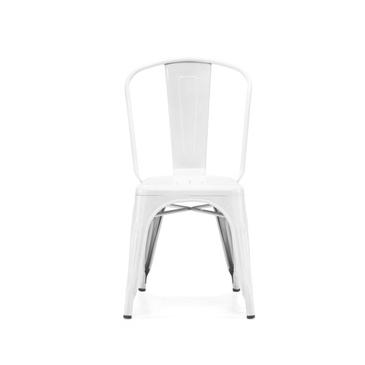 White Vintage Industrial Metal Tolix Chair