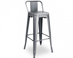 Gun Metal Low Back Tolix Bar Stool