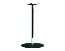 Bar Height Craigs Custom Black and Chrome Table Base 41