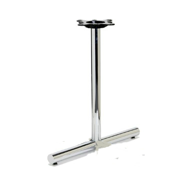 Chrome Retro Tube Table Base Flat End Prong 5.22