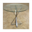 Solid Steel Julia Triangle Table Base For Glass Tops