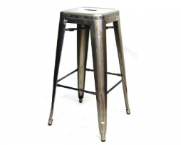 Aged Pewter Finish Tolix Bar Stool