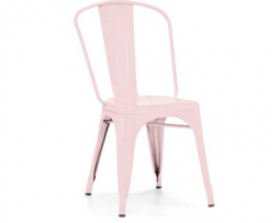 Cadillac Pink Finish Tolix Chair