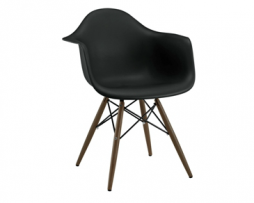 Eames Eiffel Black Arm Chair