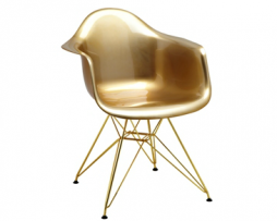 Eames Eiffel Egyptian Gold Arm Chair
