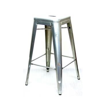 Galvanized Silver Finish Tolix Bar Stool