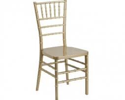 Gold Resin Chiavari Stacking Chair