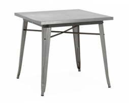 Gun Metal Finish Steel Tolix Dining Table 30