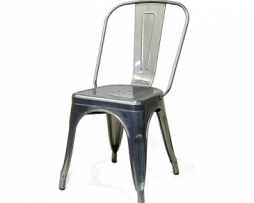 Medium Dark Gun Metal Finish Tolix Chair