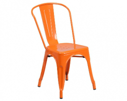 Princeton Orange Tolix Chair