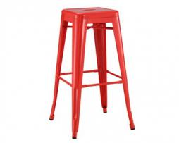 Red Tolix Bar Stool