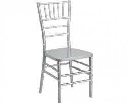 Silver Resin Chiavari Stacking Chair