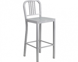 Sonic Silver Industrial Low Back Stool