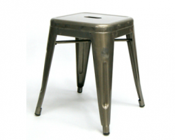 The Mini Aged Pewter Finish Tolix Stool