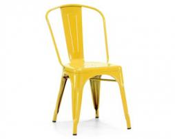 Vibrant Yellow Finish Tolix Chair