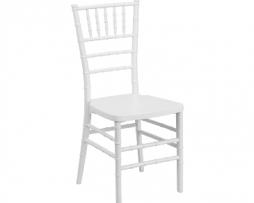White Resin Chiavari Stacking Chair