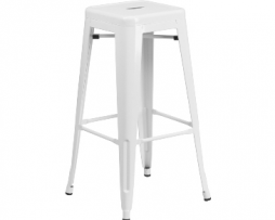 White Vintage Tolix Bar Stool 3