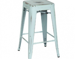 Old Baby Blue Vintage Tolix Bar Stool 8