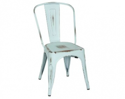Old Baby Blue Vintage Tolix Chair