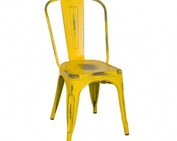 Old Country Yellow Finish Tolix Chair