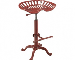 Rooster Red Tractor Seat Bar Stool