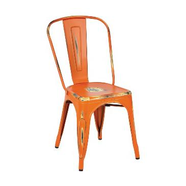 Rusted Orange Finish Tolix Chair