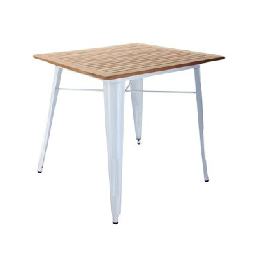 New Yacht Wood Deck Top White Tolix Table