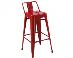 Red Baron Low Back Tolix Bar Stool