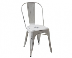 Soft White Distressed Finish Tolix Chair