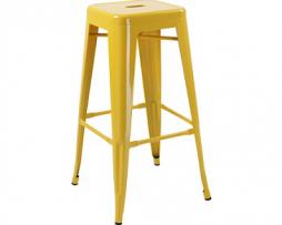 Yellow Finish Tolix Bar Stool