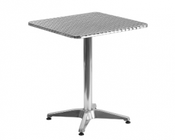 Modern Smooth Stainless Steel Patio Table and Base