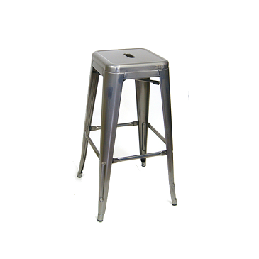Medium Gun Metal Finish Tolix Bar Stool