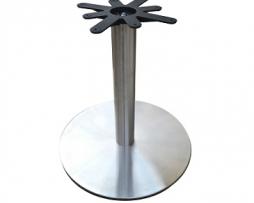 Brushed Steel Flat Disk Table Base 22