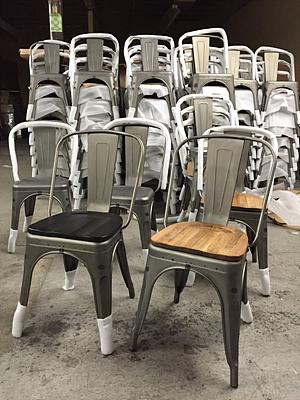 raw welding wooden seat