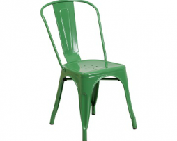Fern Green Finish Tolix Chair 1