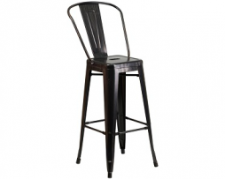 Galvanized Antique Black Copper Tolix Bar Stool