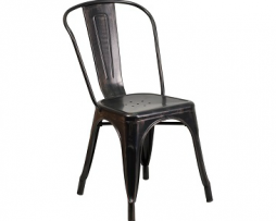 Galvanized Antique Black Copper Tolix Chair 1