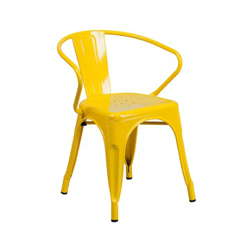 Vibrant Yellow Tolix Arm Chair