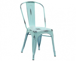 Antique Sky Blue Weathered Finish Tolix Chair
