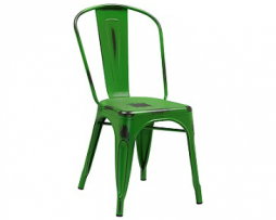 Dark Green Weathered Tolix Chair