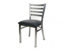 The Henry Medium Gun Metal Ladder Back Chair