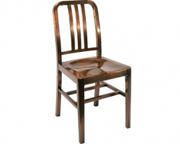 Kali Industrial Custom Copper Side Chair