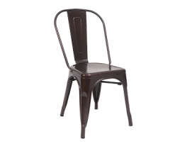 Rare Dark Brown Finish Tolix Chair