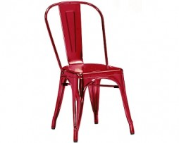 Red Wine Custom Finish Tolix Chair 4